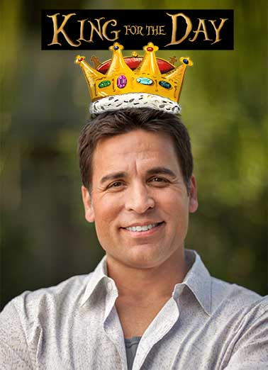 Crown King Funny For Brother   Celebrate His Lordship, the Birthday Boy, by Uploading a Photo, to this funny Birthday Ecard!  Arrives Instantly, including Free Printout.  Happy Birthday, Your Lordship!