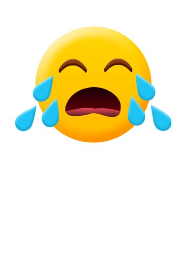 Crying Emoji Funny Miss You  For Any Time Crying emoji on greeting card says I miss you, the perfect greeting card for someone you miss, say I miss you with this funny crying emoji greeting card, Yeah...I miss you a little.