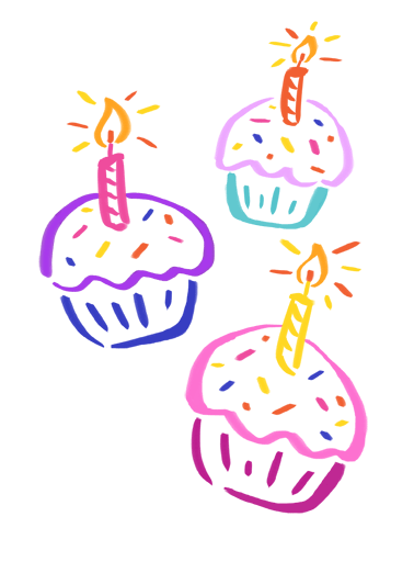 Cupcakes Funny  Card  Send that special someone in your life a personalized greeting card for their birthday today! | Happy Birthday wonderful sweetest wishes cupcakes illustration  Sweetest wishes for a wonderful birthday!