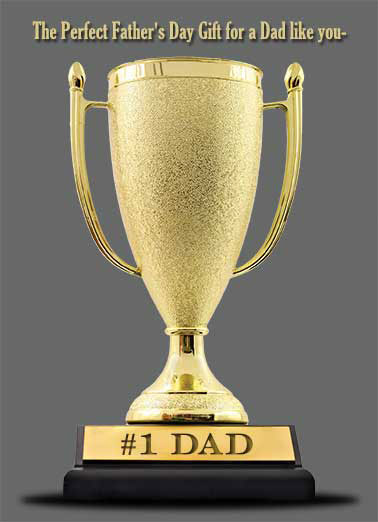 #1 Dad Father's Day Trophy Funny Beer  Father's Day  It doubles as a beer mug!