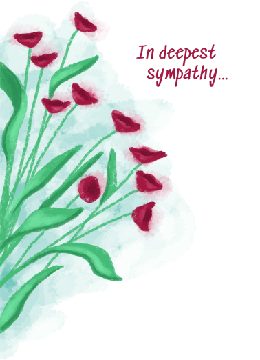 Deepest Sympathy Flowers Funny Sympathy Card  Show that special someone that you're thinking of them in their time of need with a personalized sympathy greeting card. | Sorry for your loss sorrow peace happiness memories beautiful funeral memorial thinking of you   May Time Ease Your Sorrow.