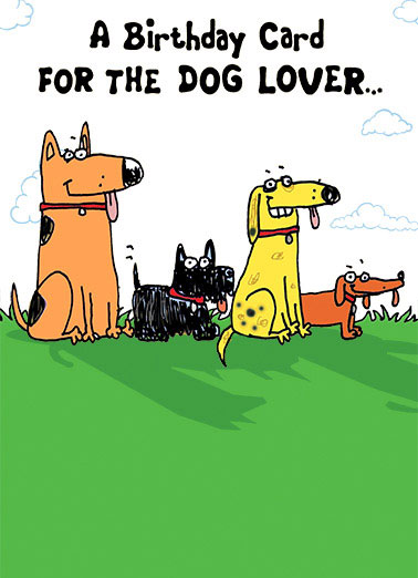 Dog Lover Funny Cartoons  Birthday   (cat flipping off)