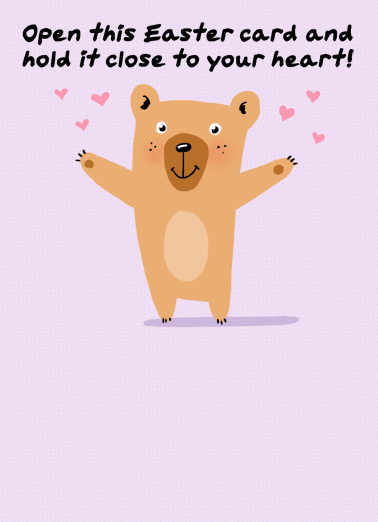 Easter Bear Hug Social Distance Funny Quarantine Card Easter Send someone a personalized greeting card to celebrate Easter! | social distancing quarantine hug cute bear happy thoughts wishes  It's a socially-distanced HUG from me to you.  Happy Easter