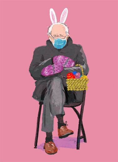 "Easter Bernie Eggs Funny Easter Card  Send a wish with this fun ""Easter Bernie"" Easter card or Ecard to put a smile on someone's face today."