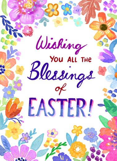 Easter Blessings Funny Easter Card Cartoons Wishing you all the blessings of Easter. | blessings easter happy flowers soft wish bless grow spring sweet  Happy Easter