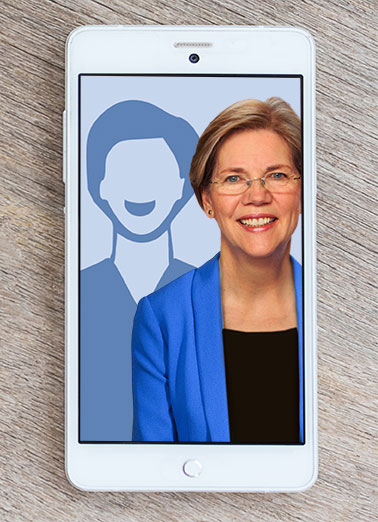 Elizabeth Warren Selfie Funny Hillary Clinton Card  Add your own photo to this Elizabeth Warren Selfie card! | Obama, LOL, Selfie, Political, photo, smartphone, funny, cute, hilarious, democrat, republican, Birthday, anti-obama, JFL, ROTFL, hillary, clinton, Elizabeth, Warren, Liberal, obnoxious Hope your day is Picture-Perfect!