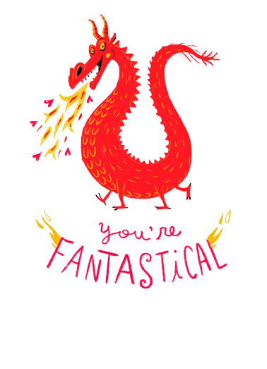 Fantastical Mother Funny Mother's Day Card For Mother-in-Law Say Happy Mother's Day with this one-of-a-kind fantastical Dragon Card for any Mom.   And I want to wish you a LEGENDARY, MAGICAL, and totally FANTASTICAL Mother's Day!