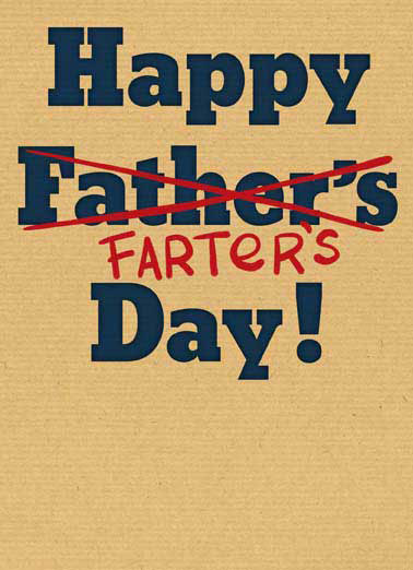 Farter's Day Funny Father's Day Card Fart  Hope it's a Blast!