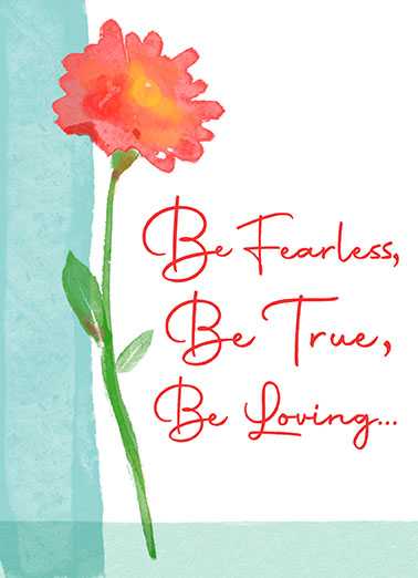 "Fearless True Loving Funny One from the Heart Card Birthday Send a wish with this sweet ""Fearless True Loving"" Birthday card or Ecard to put a smile on someone's face today... and we'll include Free first-class postage on all printed cards and a free printout link on all Ecards that arrive instantly."
