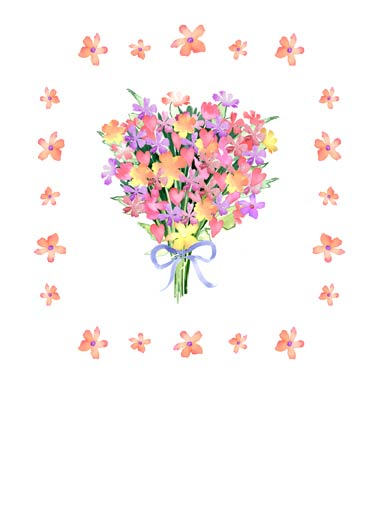 Floral Bouquet Funny Thank You  For Grandma Thank You Floral Bouquet | Artisan, cute, beautiful, floral, flowers, arrangement, watercolor, beauty, sweet, heartfelt, loving, daisies, pansies  Thank You!