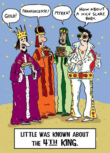 Fourth King Funny Christmas Card
