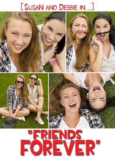 Friends Forever Movie Poster Funny For Her Card    Happy Birthday to my Forever Friend!