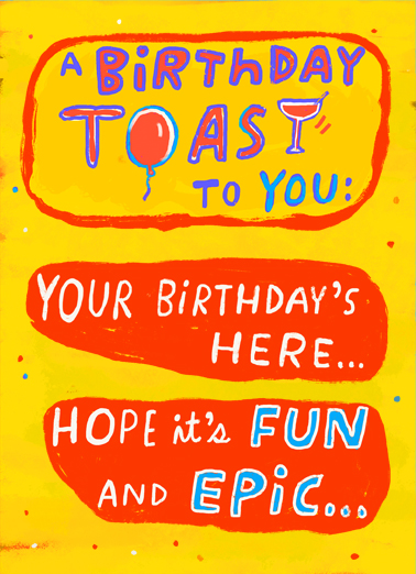 "Fun and Epic Funny  Card  Send this funny ""Fun and Epic Poem"" Quarantine Birthday card or Ecard to put a smile on their face today... and we'll include Free first-class postage on all printed cards and a free printout link on all Ecards that arrive instantly.  Even if you're stuck having it in a pandemic!"