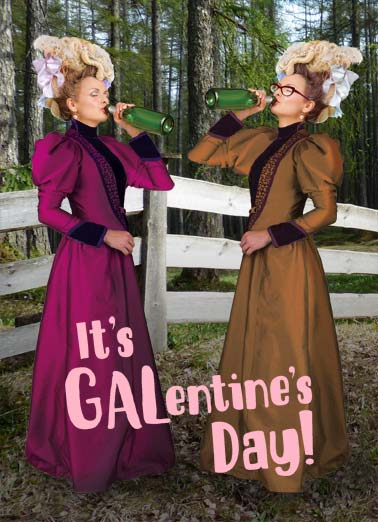 Gal Day Funny Galentine's Day   Gal Pals Toast to Galentine's Day | valentines, funny, vintage, ladies To heck with chocolates and flowers!