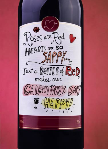 Galentine's Day Happy Funny Galentine's Day   Gal Pals Wine Label | valentine's day, anti, gals, drinking, fun, lady, talking, love, friends, sister, wine  It's Galentine's Day... BOTTOMS UP!