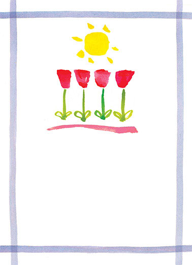Get Well Tulips Funny 5x7 greeting Card Get Well   get well soon.