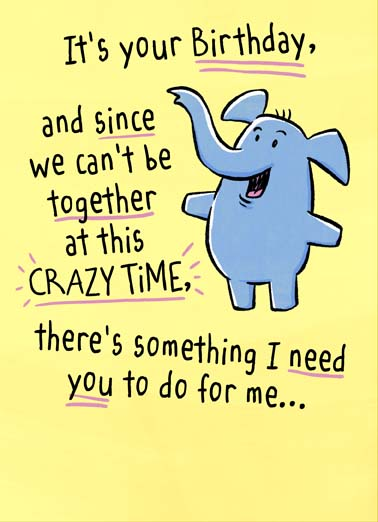 Give Yourself Hug Funny  Card  Happy quarantine birthday with this cute animal greeting card, since we can't be together at this crazy time you need to hug yourself, only way to give you a hug is for you to do it yourself on this cute coronavirus quarantine greeting card, Give yourself a BIG, Loving, Hug!
