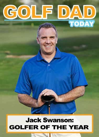 Golf Dad Today Funny Father's Day Card Add Your Photo