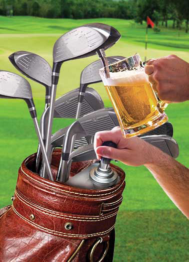 Funny Drinking Card  dad father father's day golf club beer mug 18 holes putt driver green course, For Father's Day, I found the perfect driver for a golfer like you!