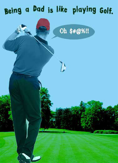 Golfer Dad Funny Father's Day  Golf