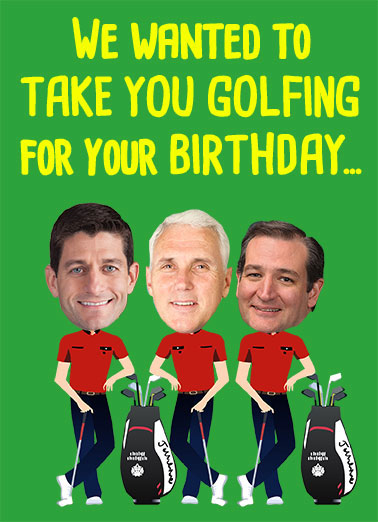 Funny Funny Political   Republicans have no balls (for Golf) | golf, funny, links, republican, democrat, conservative, donald, trump, president, paul, ryan, mike, pence, ted, cruz, lol, editorial, political, hilarious, congress, senate, vice president, golfing, group, for a golfer, caricatures, heads, But between us, we have no balls.