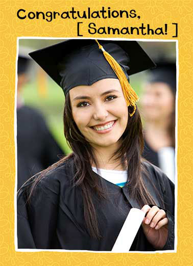 Portrait Funny Add Your Photo Card Graduation