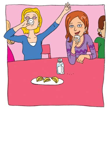 Funny For Us Gals Card  ,  Remember - Birthdays should always be taken with a grain of salt.