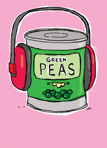 Funny Mother's Day Card  ,  For Mother's Day, thought you'd like some PEAS and QUIET.