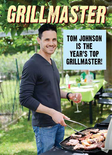 Grillmaster Funny Father's Day Card Grilling  You're such a rare Dad, all I can say is: Well Done!