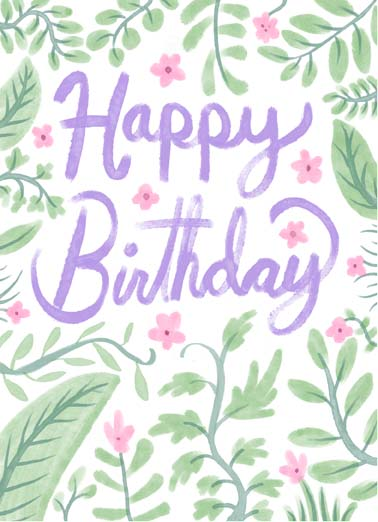 Grow and Blossom Funny One from the Heart   Say happy birthday with this sweet floral birthday card, the perfect birthday card for the gardener or plant lover in your life, send this heartfelt birthday card to the gardener or plant lover in your life, May you continue to grow and blossom with each year.