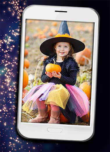 Halloween Selfie Funny Halloween Card Add Your Photo  Hope your Halloween is Picture Perfect