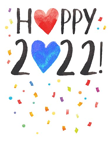 Happy 2018 Watercolor Funny New Yearu0027s Just A Heartfelt Wish For A Happy New  ...