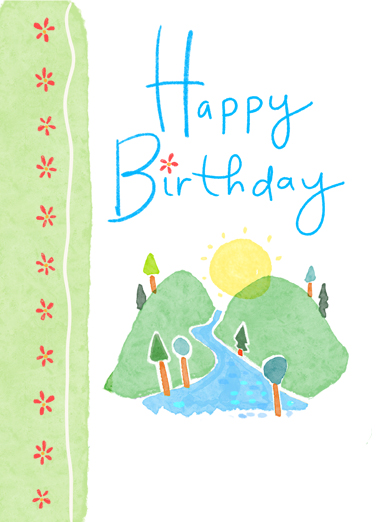 "Happy Birthday Hill Funny One from the Heart Card Birthday Send a wish with this sweet ""Happy Birthday Hill"" Birthday card or Ecard to put a smile on someone's face today... and we'll include Free first-class postage on all printed cards and a free printout link on all Ecards that arrive instantly.  May this your special day bring new light and new joy."
