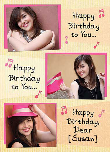 Happy Birthday Song Funny Birthday Card Add Your Photo Add your photo or a friend's to this funny Birthday card | Happy, Birthday, song, multi, photo, photography, cute, friends  We totally love you!