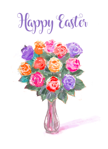 "Happy Easter Bouquet Funny Easter Card  Send a wish with this sweet ""Happy Easter Bouquet"" Easter card or Ecard to put a smile on someone's face today."