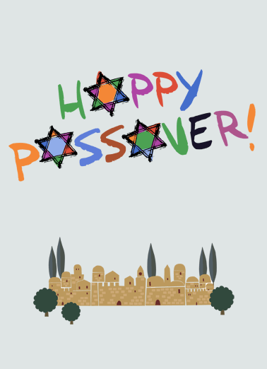Happy Passover Funny Passover Card   Have a wonderful holiday! | Happy Passover Jewish Jew watercolor sweet Star of David   Have a wonderful holiday!
