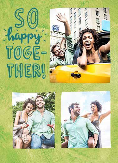 Happy Together Funny Girlfriend Card   Happy Happy Happy Anniversary