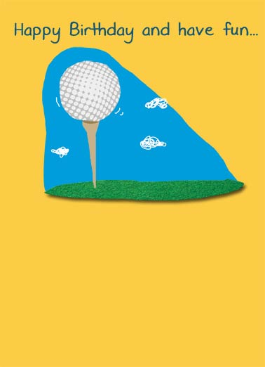 Have Fun Golfing Funny For Dad Card  Funny, Clubs, Golfing Jokes, Hilarious LOL, Golfers, Birthday Cards for Him, For Golfers, Beer, Funny Cards, Golf Nuts, Grip, Drinking, Count Each Shot, Dale, Golf Pro, Lessons, Advice Teaching golf balls to swim.