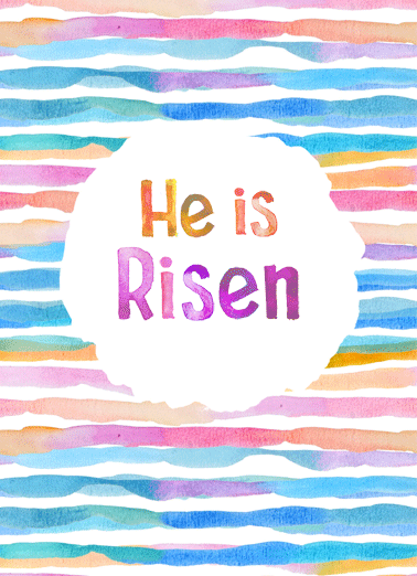 He Is Risen Funny Easter Card  Happy Easter to you! | Jesus Easter Risen He Lord Savior Christian Thankful King of Kings watercolor sweet heartfelt religious  Happy Easter