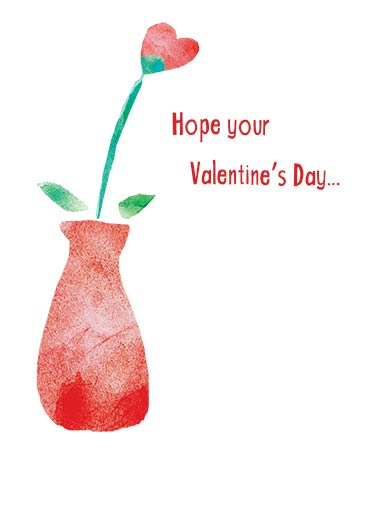 Heart Vase Funny Valentine's Day Card For Kid   Blossoms with Love!
