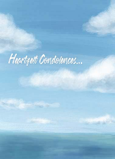 Heartfelt Condolences Funny Sympathy Card  watercolor cloud sympathy greeting card, deepest sympathy for your loss, send a beautiful artistic sympathy card, Deepest sympathy on your loss.