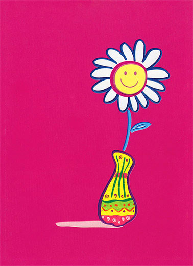 Hello Funny Flowers Card   Hello!
