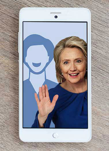 Hillary Clinton Selfie Funny Hillary Clinton Card Add Your Photo  Hope your Day is Picture Perfect!