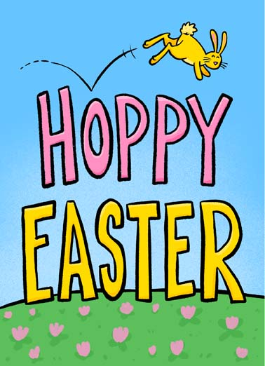 Hoppy Easter Funny Easter Card  Hoppy Easter from the Easter bunny on this funny sweet and cute greeting card,  ...to some Bunny special!