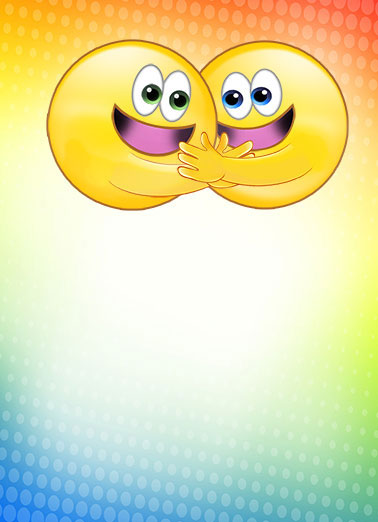 Hugging Emojis Funny Soul Mates Card  Hugging Emojis love to Hug <3 | cute, emojis funny emoticons friends icons national hug day kiss poop funny lol lulz bff hugging hugs embrace text fun humor together girlfriend boyfriend brother sisters Nothing makes me smile like one of your Hugs!
