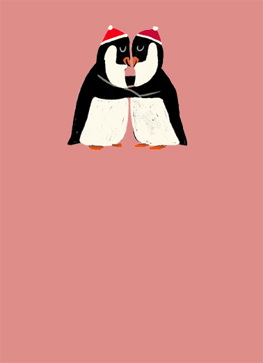 Hugging Penguins Funny Valentine's Day Card Hug Send a personalized hug with these cute hugging penguins - sweeter than a box of chocolates!  Sending you the warmest of hugs this Valentine's Day.