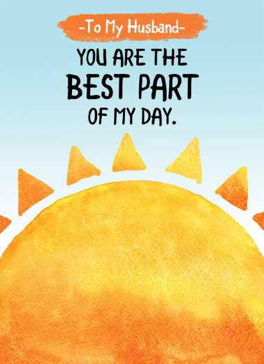 Husband Sun Best Day FD Funny Father's Day Card For Husband  I love you so much! | watercolor Happy Father's Day husband sweet sunny sun card  I love you so much!