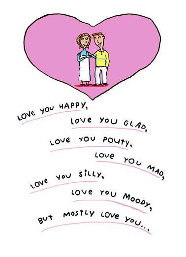 Funny Simply Cute Card  Love you in the Nudey! | Anniversary, poem, cute, card, greeting, funny, nude, love, couple, characters, traditional, sexy, funny, poetry, together, sweet,  ...In the Nudey! Happy Anniversary