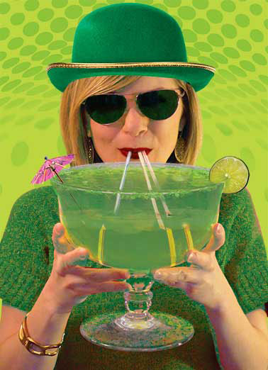Irish Lass Funny For Friend Card