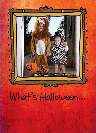 Kid's Halloween Costumes Funny Halloween Card Add Your Photo The perfect photo card for your kids cute adorable halloween costume | Halloween kids photo card! Without some Punkins?  Sweetest Halloween Wishes